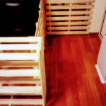 DIY すのこを使った棚と柵