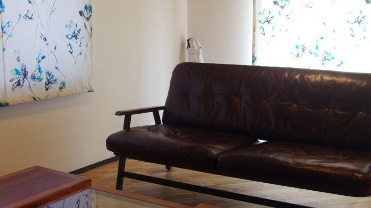 アフターリノベーション ソファーとカフェテーブルを選びました
