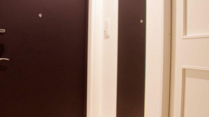 DIY 玄関に姿見ミラーを設置しました